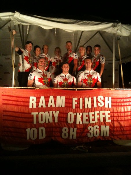 Tony OKeefe RAAM Finish